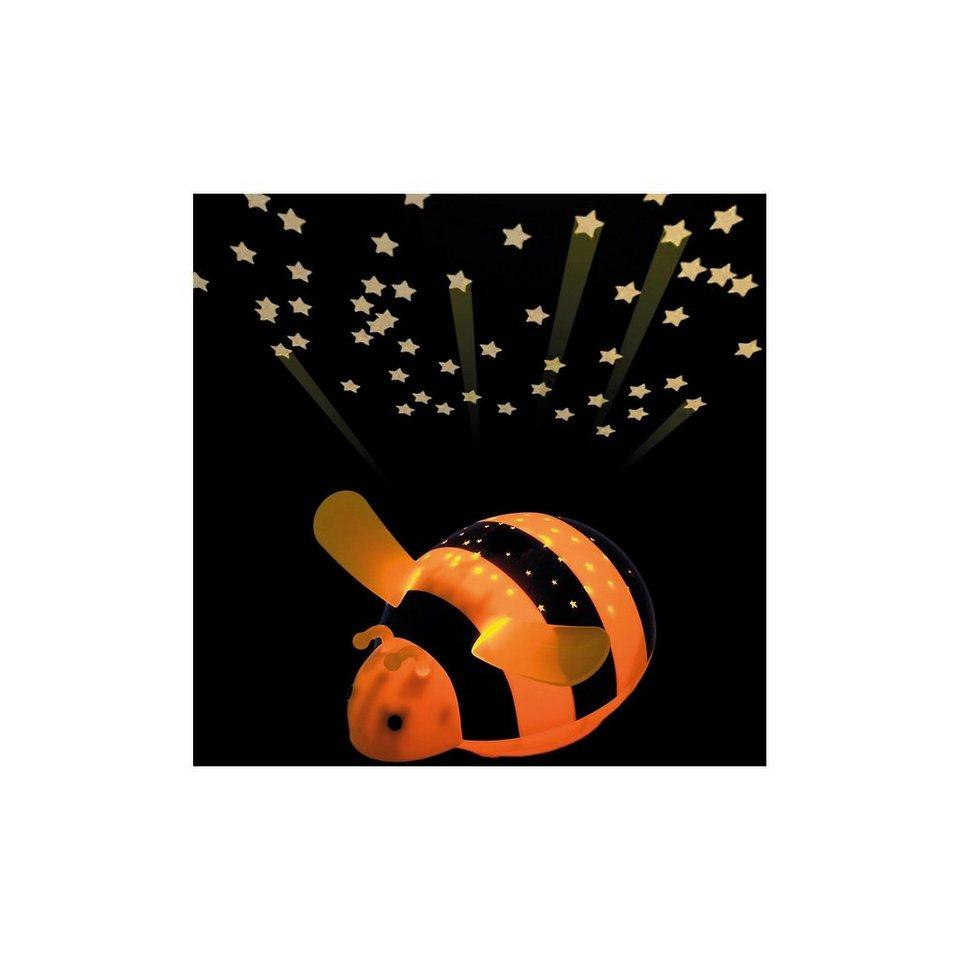 NIERMANN Nachtlicht Biene, LED Sternenlicht mit Farbwechsler in gelb