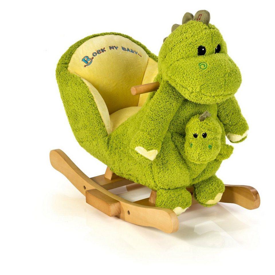 """knorr-baby 2 in 1 Schaukeldrache """"Dino"""" inkl. Handpuppe"""