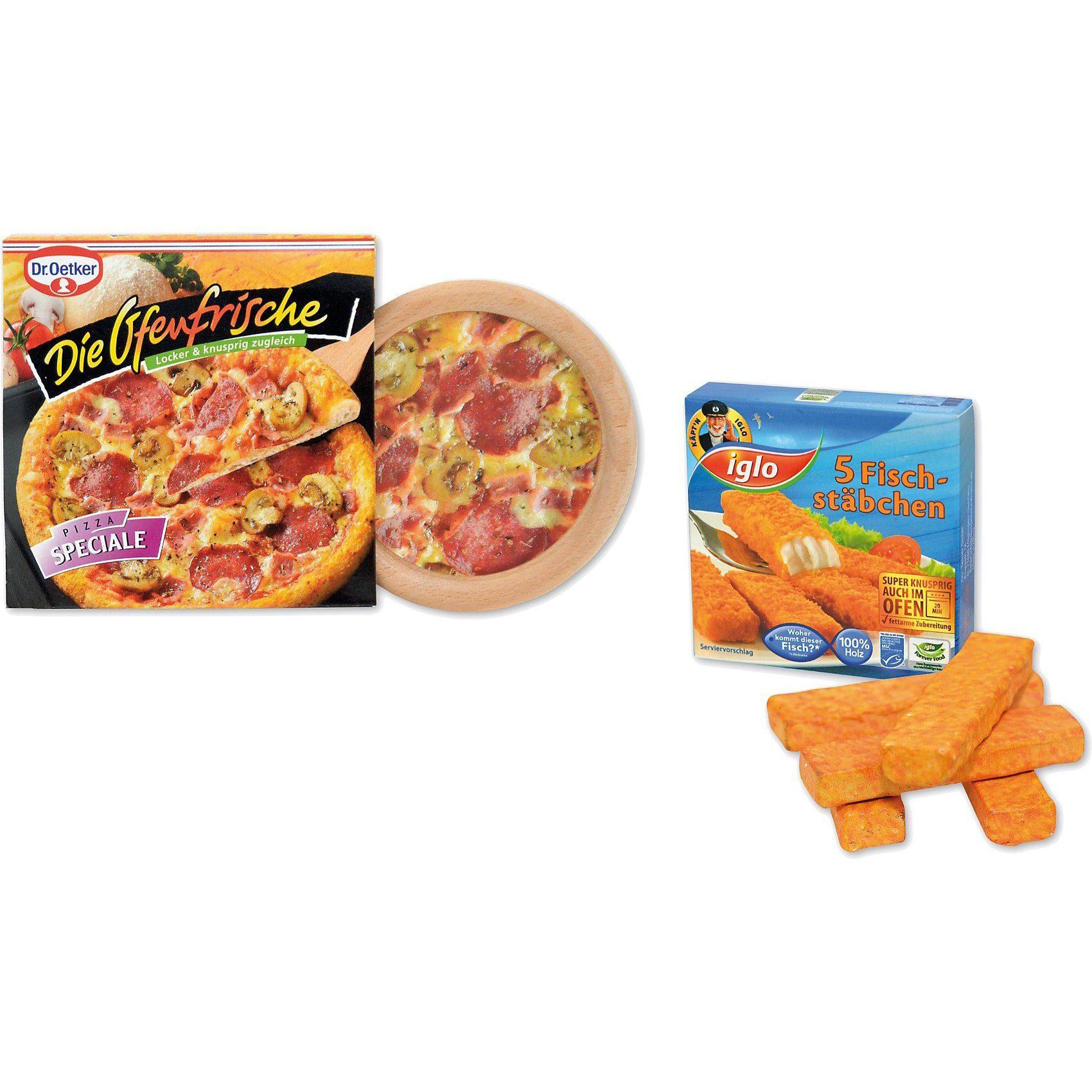 Chr. Tanner Spiellebensmittel Dr. Oetker Pizza & Iglo Fischstäbchen