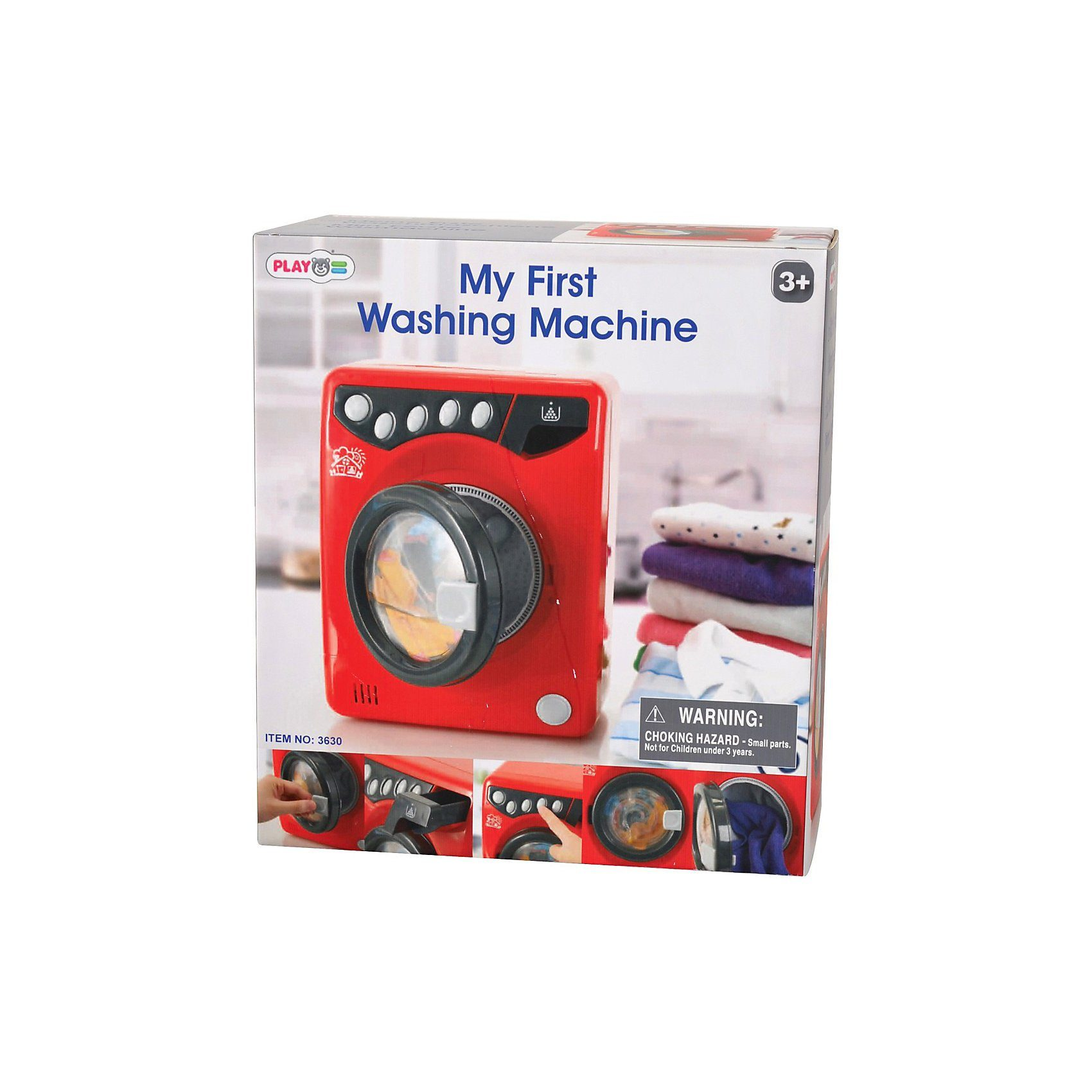Playgo Meine erste Waschmaschine ,rot- schwarz Haushaltsgerät