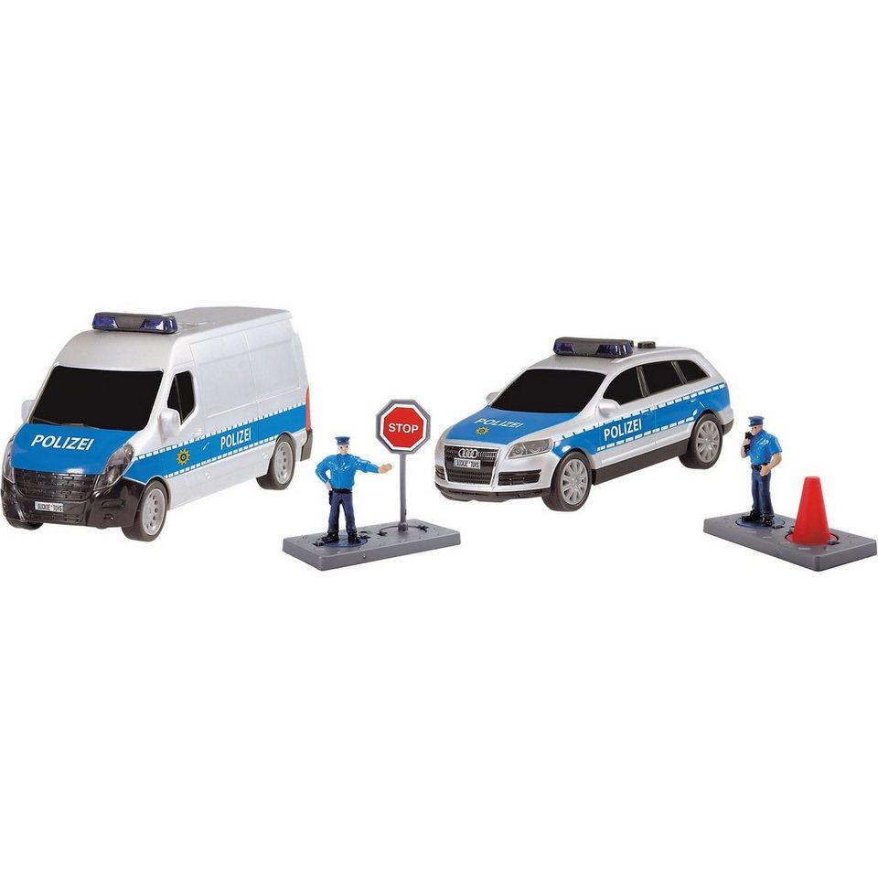Dickie Toys Polizei Einsatz-Set, deutsche Version