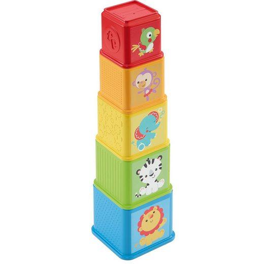 Mattel® Fisher-Price Entdecker- und Stapelwürfel, Steckspiel, Stapel