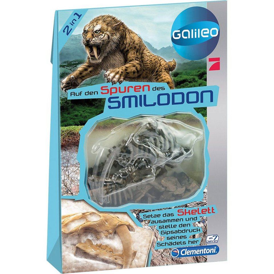Clementoni Galileo - Dinosaurier Skelett Bastelset - Smilodon