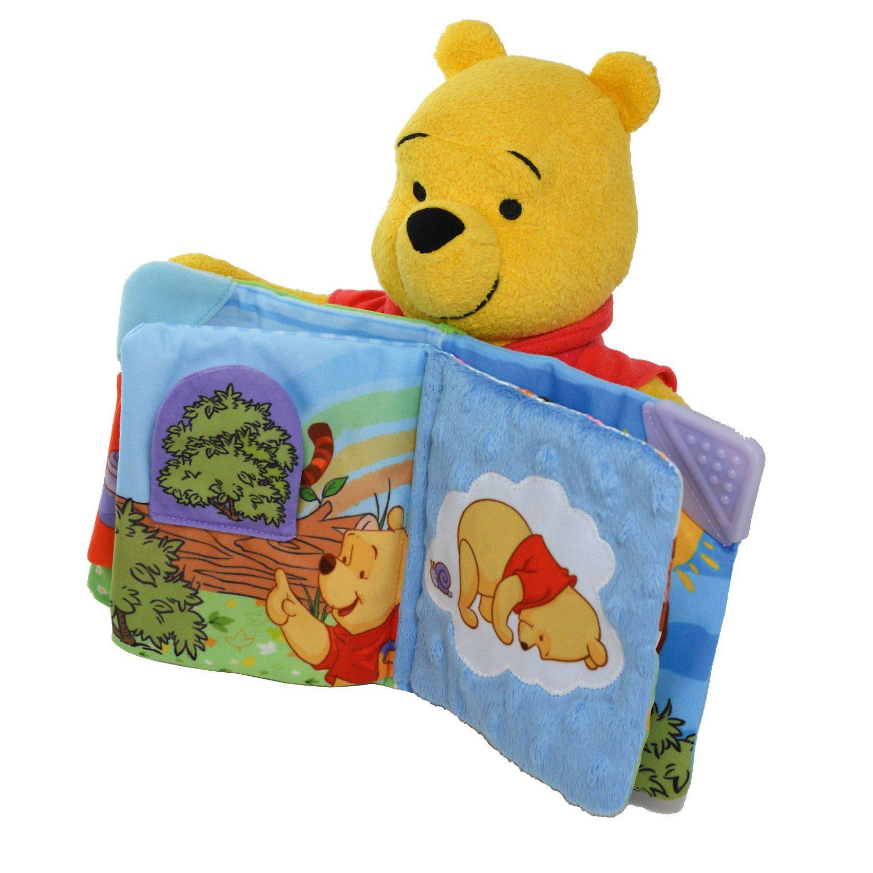 TOMY Lies mit mir Winnie Puuh Teddy mit Geschichtenerzähl-Funktio