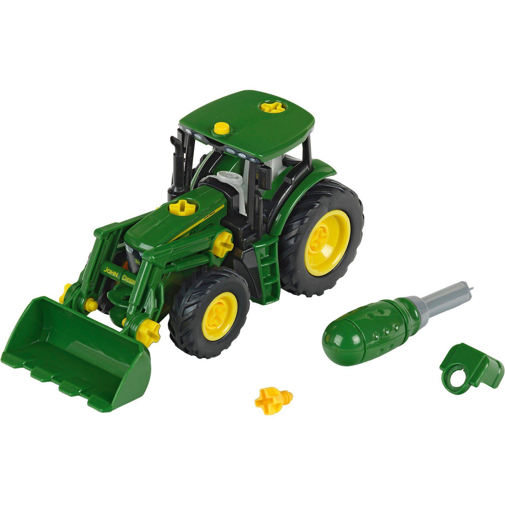 Klein John Deere Traktor mit Frontlader und Gewicht