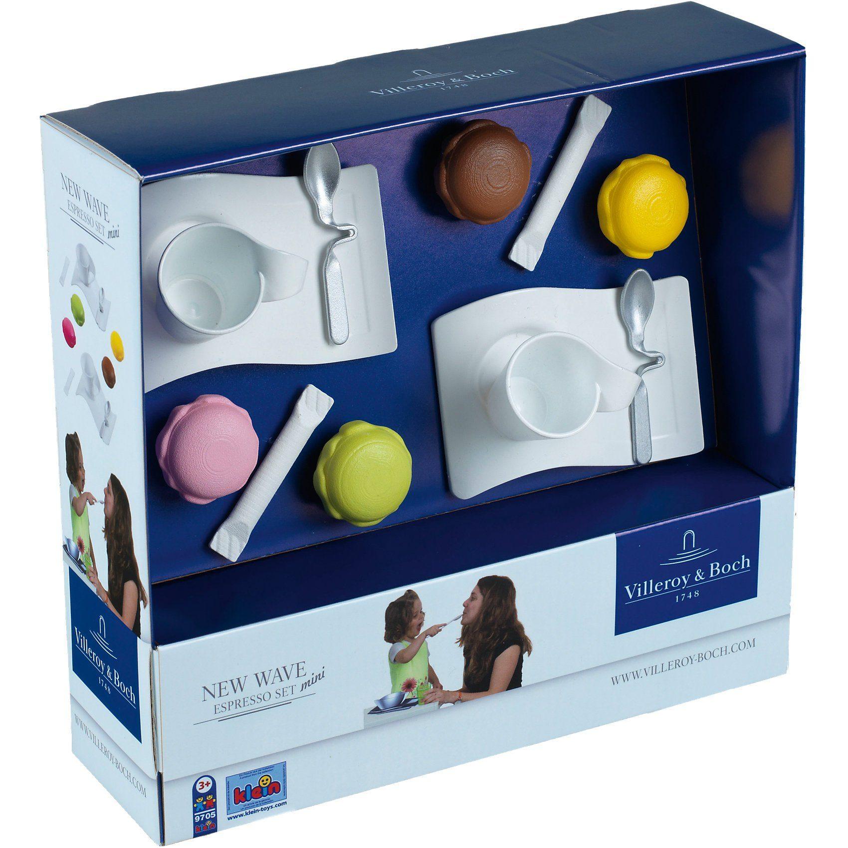"""Klein VILLEROY&BOCH Espresso Set """"New Wave"""" - Spielgeschirr"""
