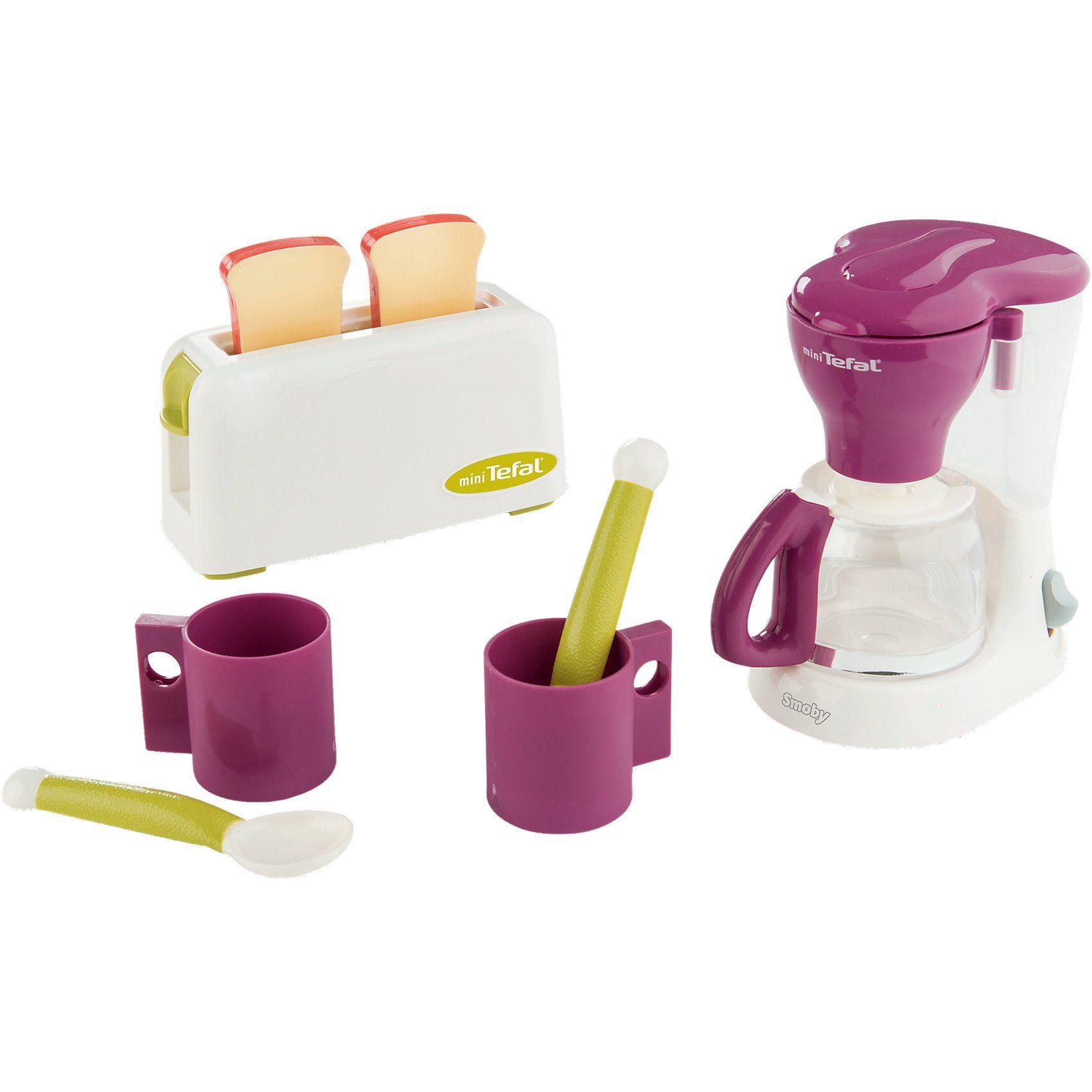 Smoby Tefal Frühstücksset mit Kaffeemaschine Küchengerät