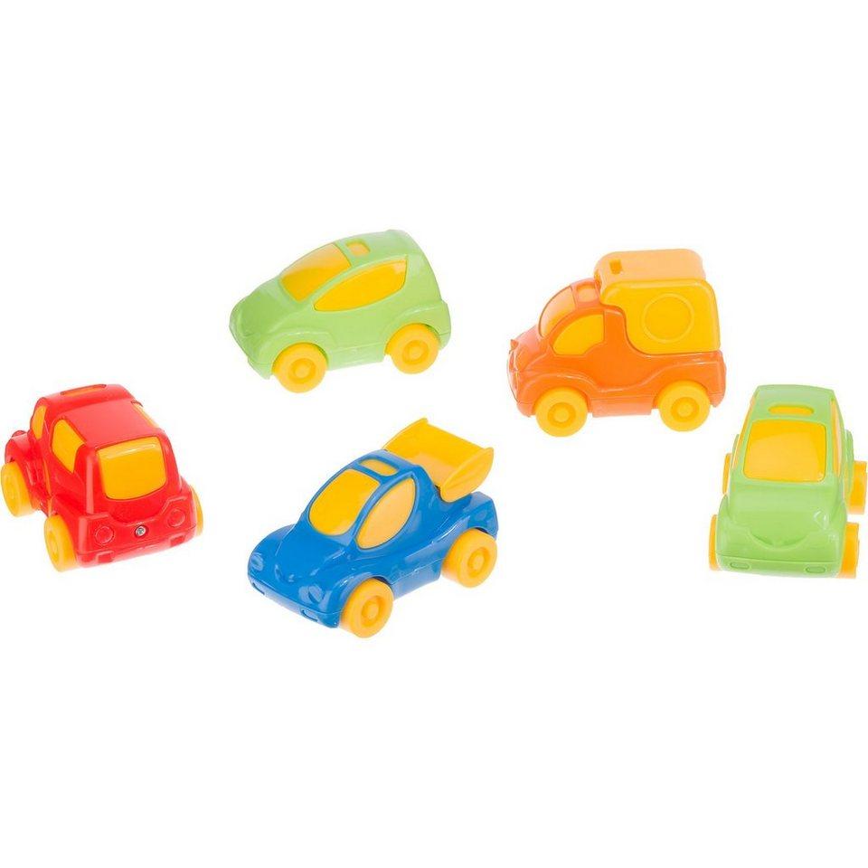 Wader Baby Cars, 5er Set (Fahrzeuge für Parkgaragen)