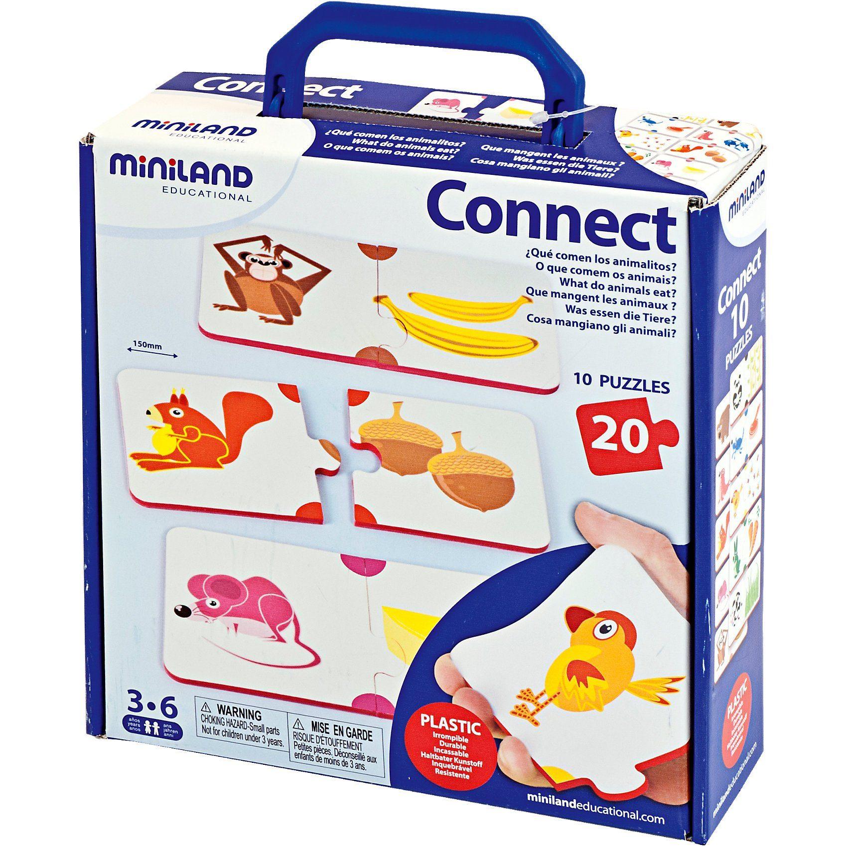 Miniland Lernspiel Was fressen die Tiere?