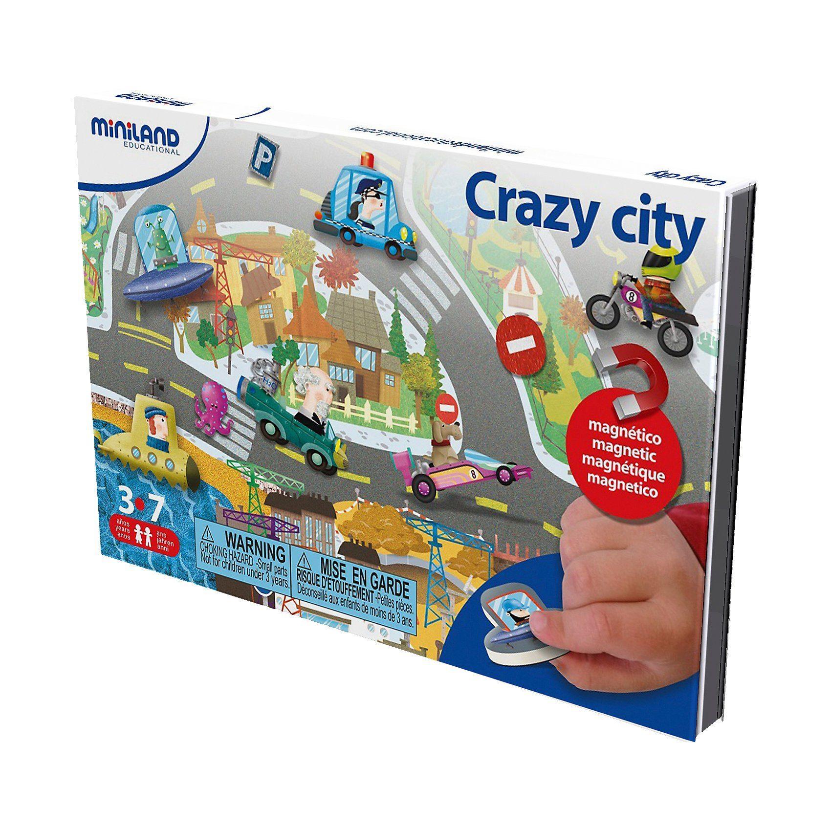 Miniland Magnetspiel Crazy City