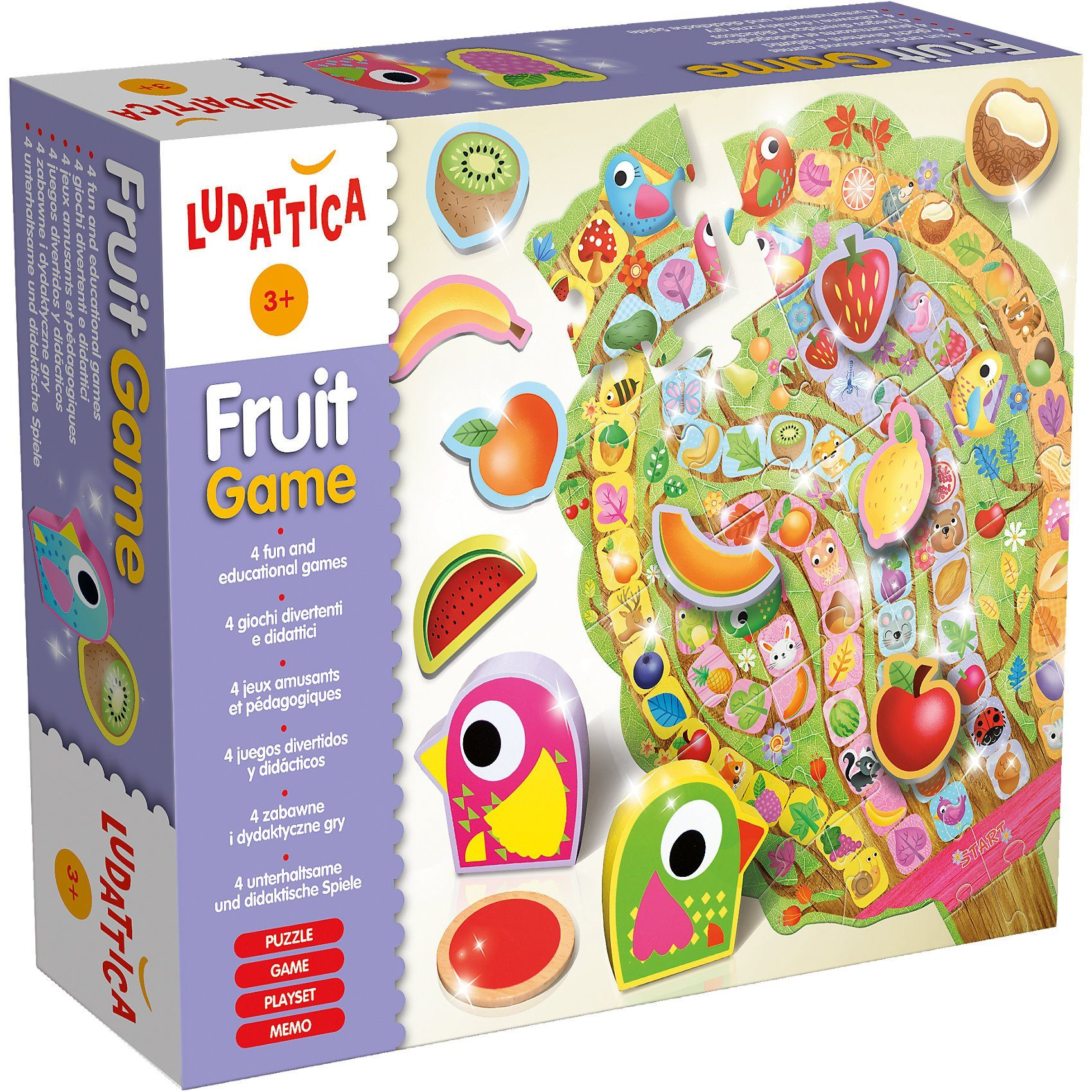Lisciani Fruit Game - 4 in 1 Spielset
