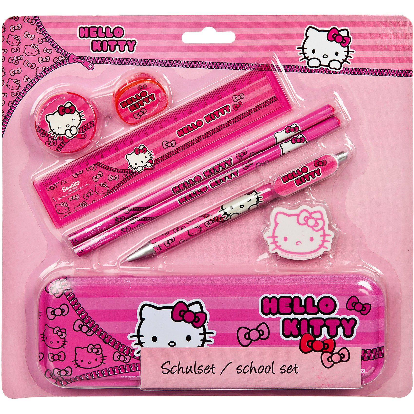 UNDERCOVER Schulset Hello Kitty, 8-tlg.