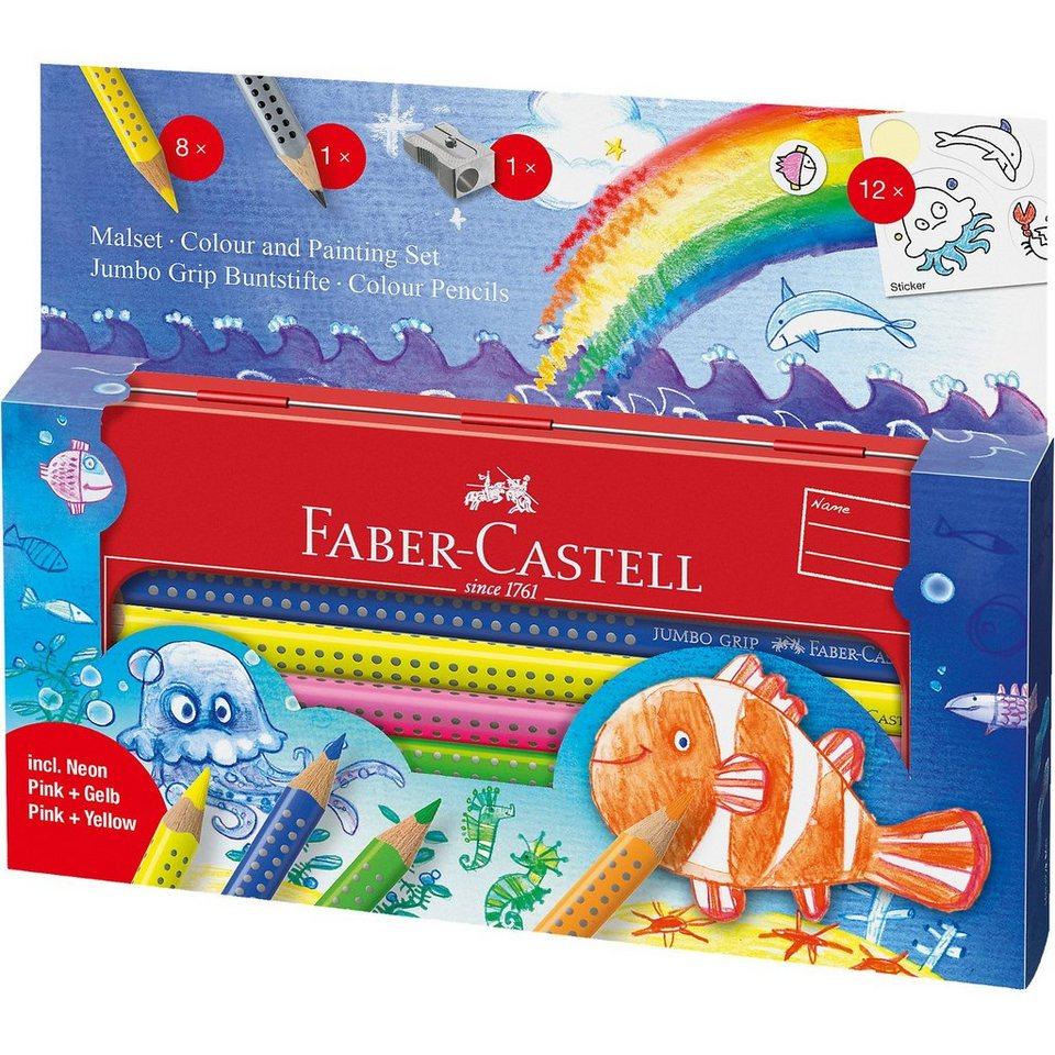 Faber-Castell JUMBO GRIP Malset Unterwasserwelt Metalletui