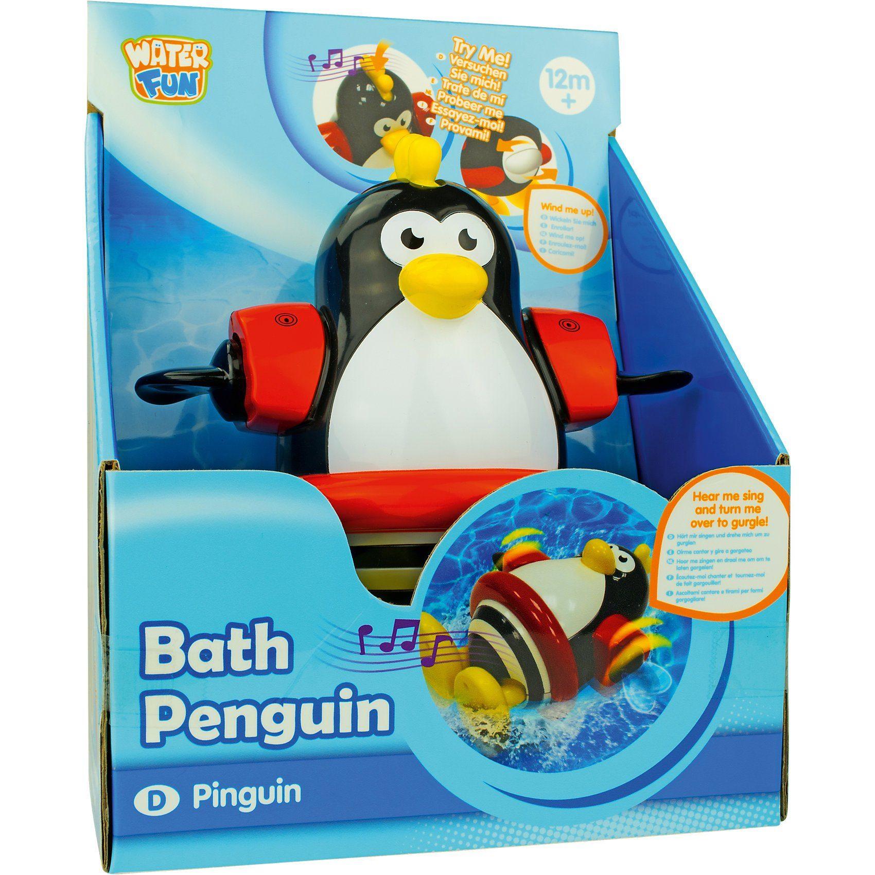 Schwimmender Bade-Pinguin mit Sound