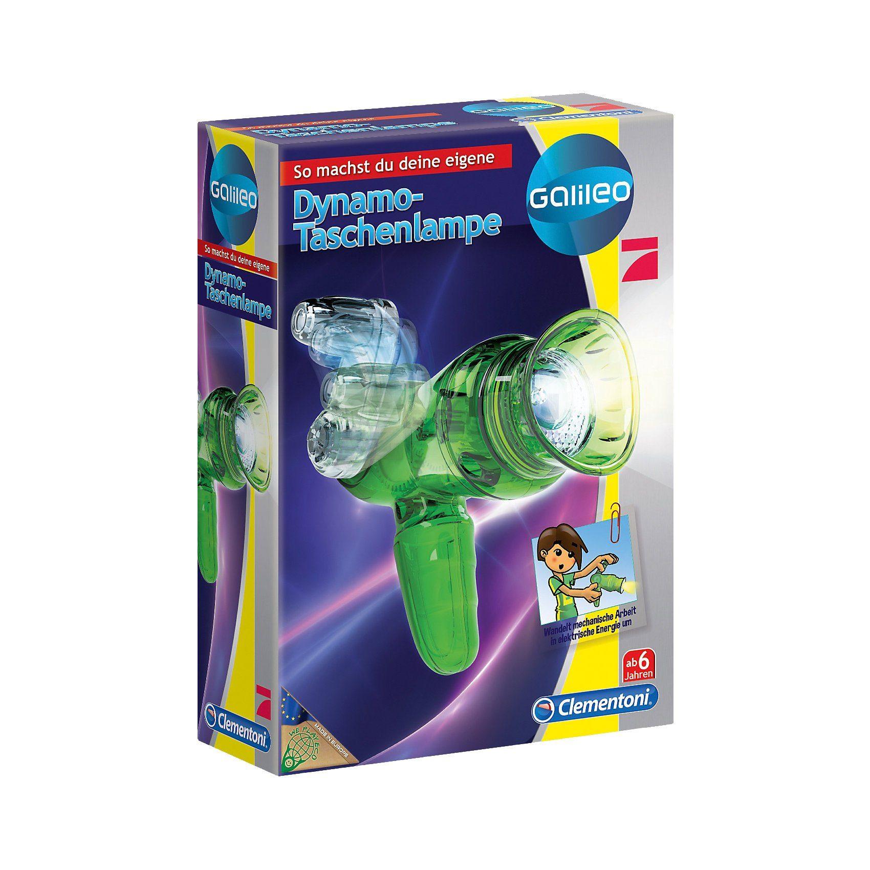 Clementoni® Galileo - Dynamo Taschenlampe