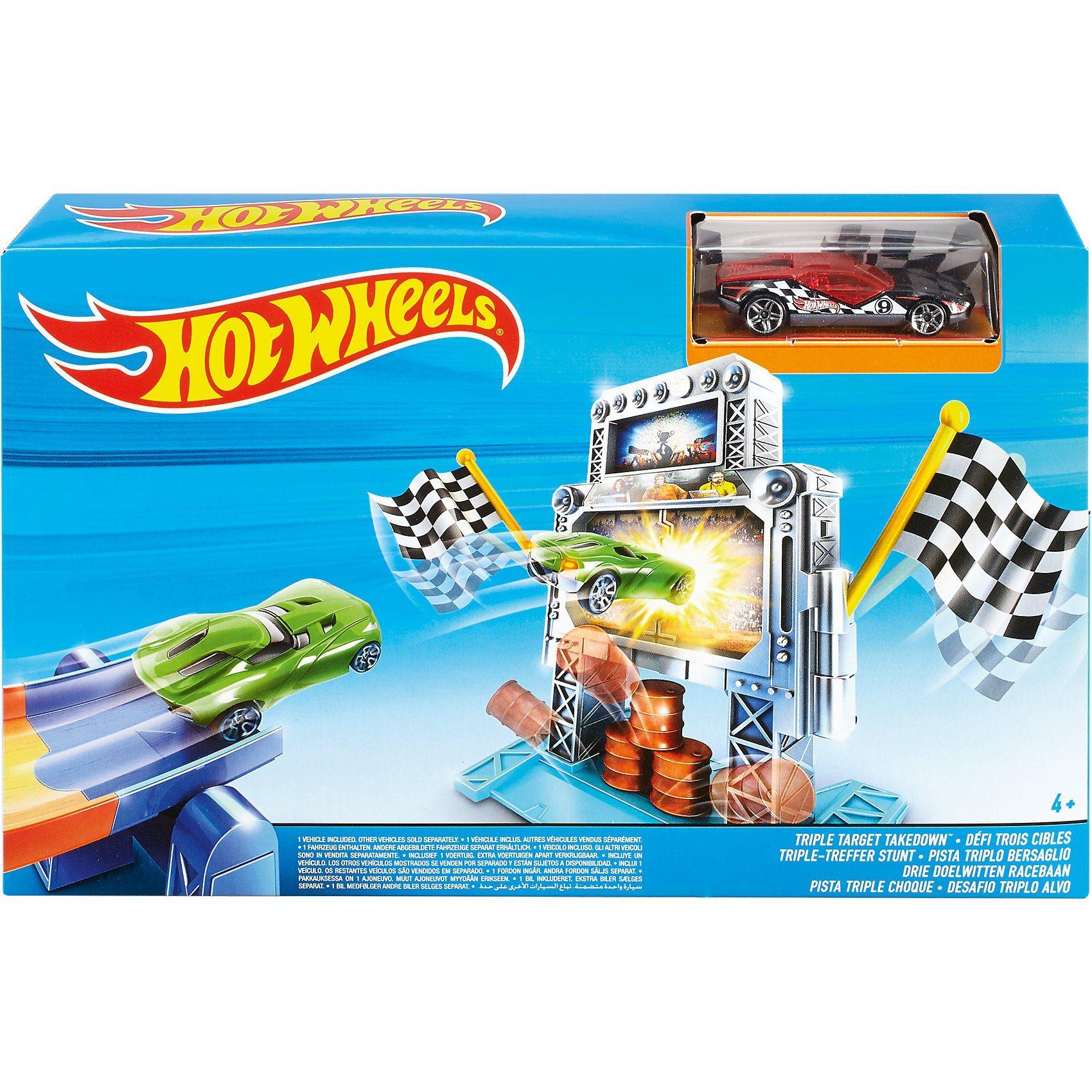 Mattel Hot Wheels Triple-Treffer Stunt