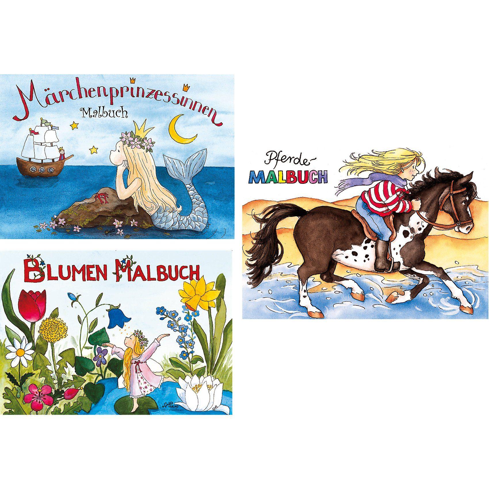 Grätz Verlag Malbuch-Set Mädchen, 3-tlg.