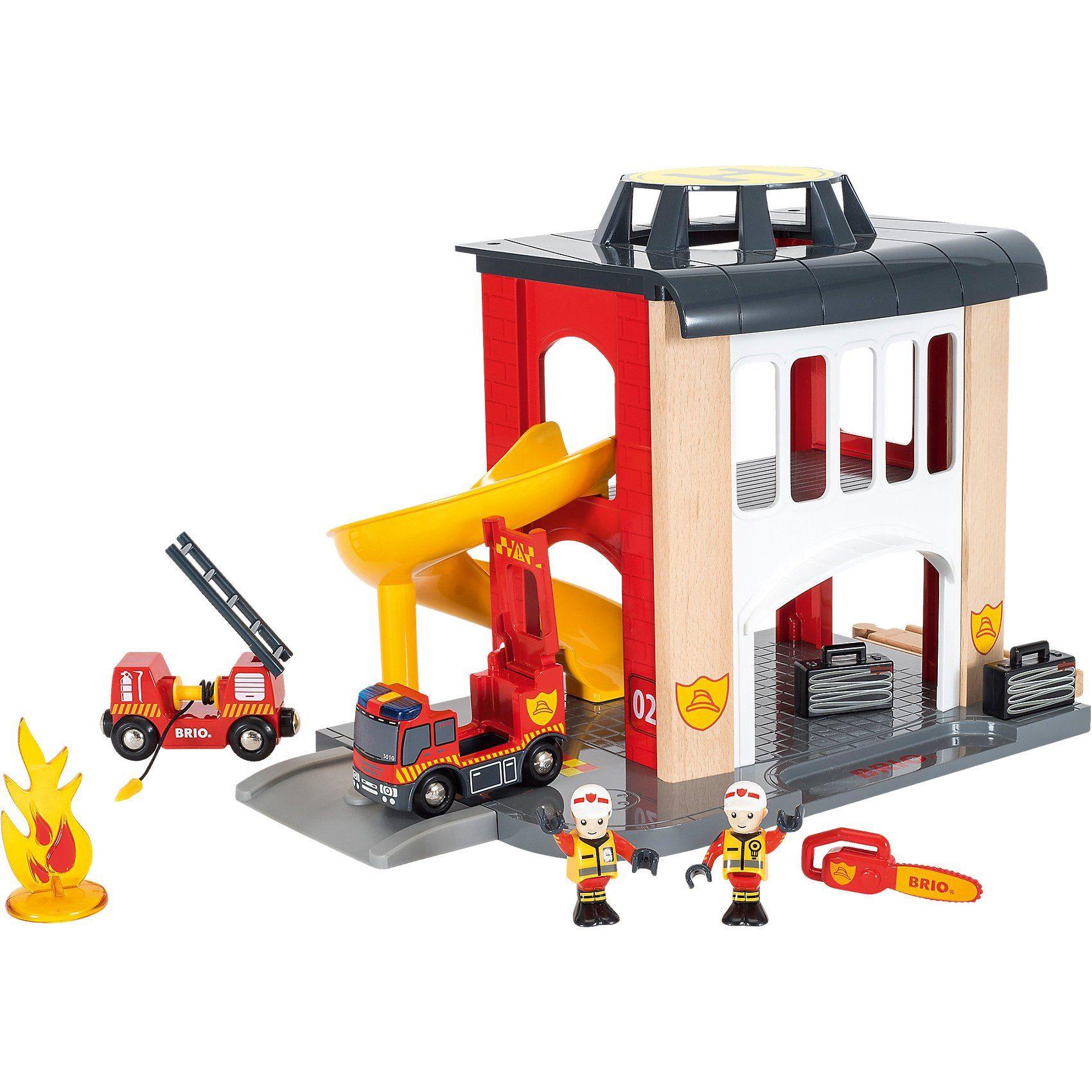 BRIO Große Feuerwehr-Station mit Einsatzfahrzeug