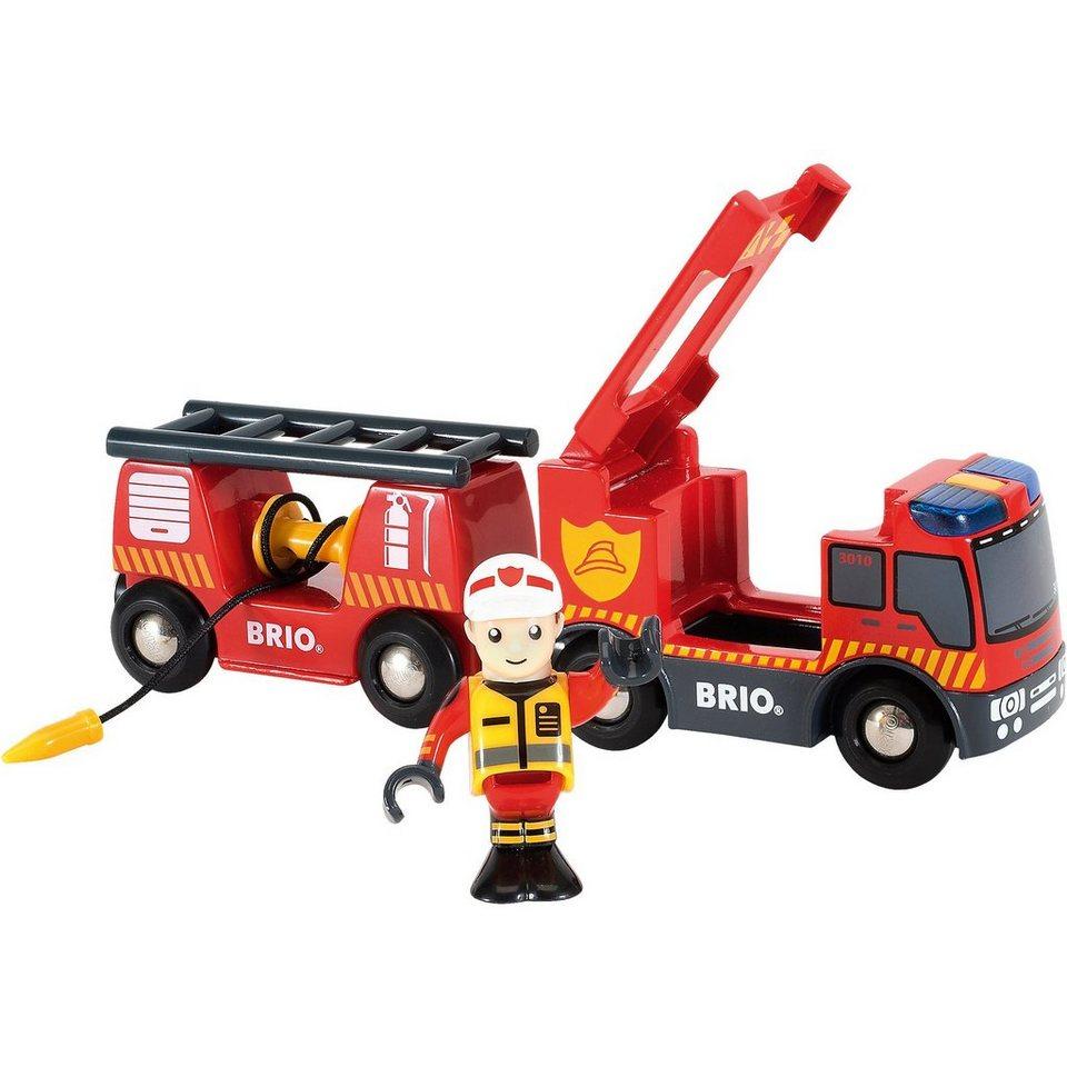 BRIO 33811 Feuerwehr-Leiterfahrzeug mit Licht & Sound