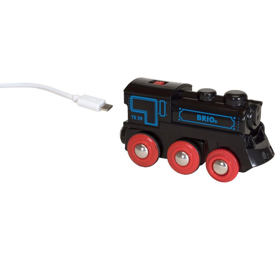 BRIO 33599 Schwarze Akku-Lok mit Mini-USB
