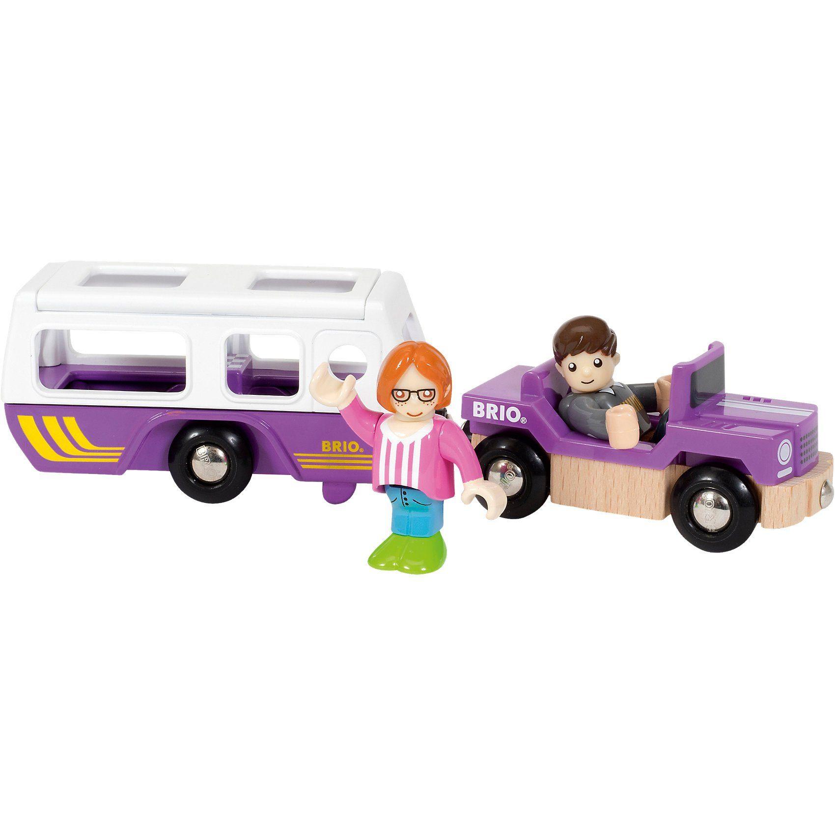 BRIO Village SUV mit Wohnwagen