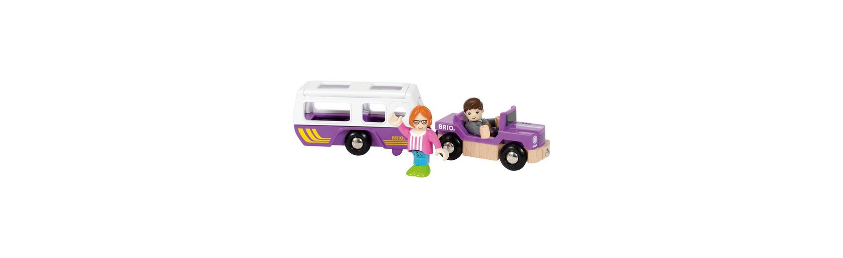 BRIO 33949 Village SUV mit Wohnwagen