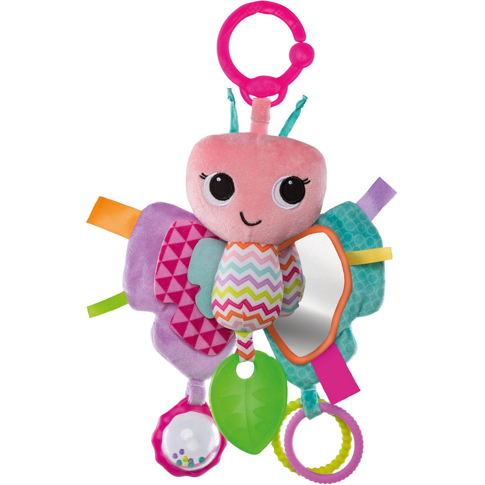 Kids II Bright Starts Hängespielzeug Schmetterling, pink
