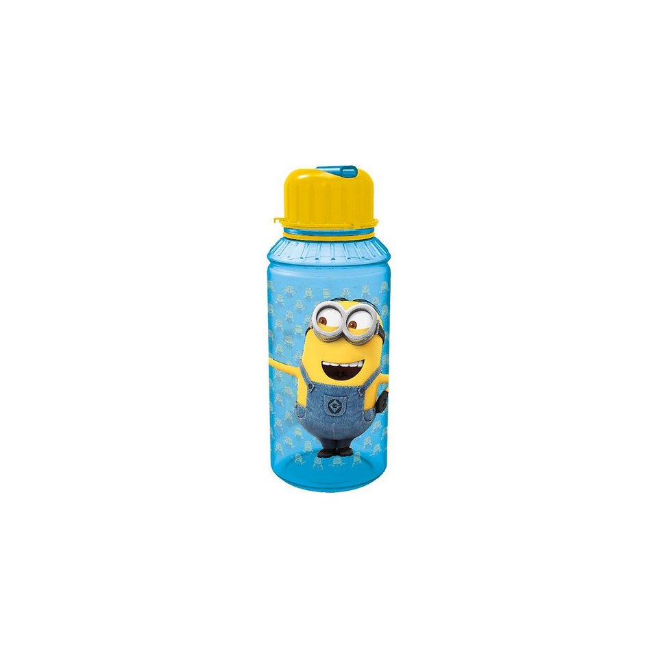 P:OS Trinkflasche Minions, 450 ml, inkl. Strohhalm