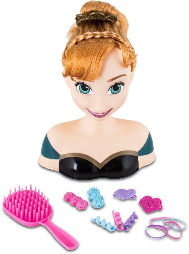 IMC Toys Kopf zum Stylen und Frisieren, »Frozen Stylingkopf Anna« in blau