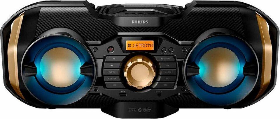 Philips PX840T/12 Kompaktanlage, Bluetooth, 1x USB in schwarz