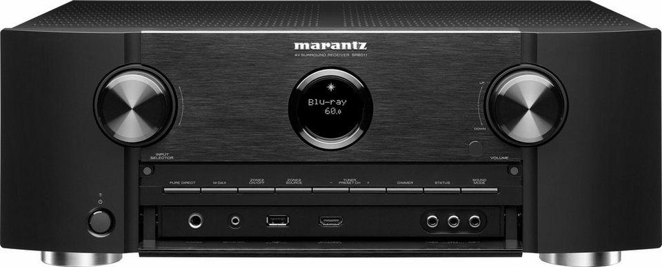 Marantz SR6011 9 AV-Receiver (3D, Spotify Connect, Airplay, WLAN, Bluetooth) in schwarz