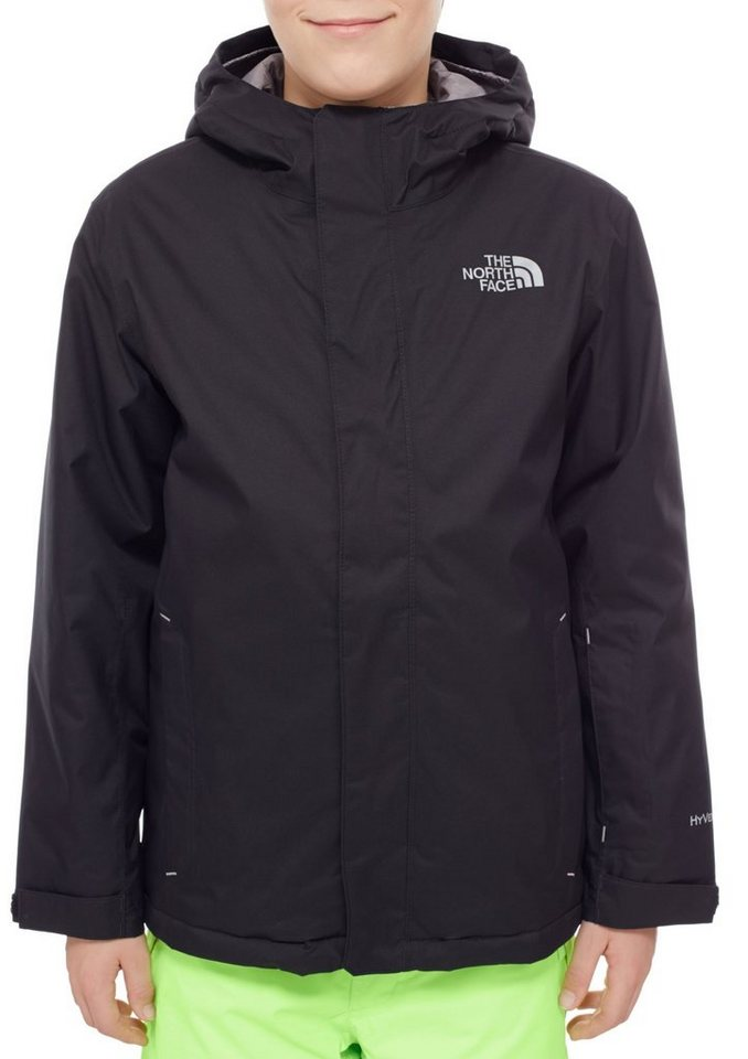 The North Face Outdoorjacke »Snowquest Jacket Youth« in schwarz