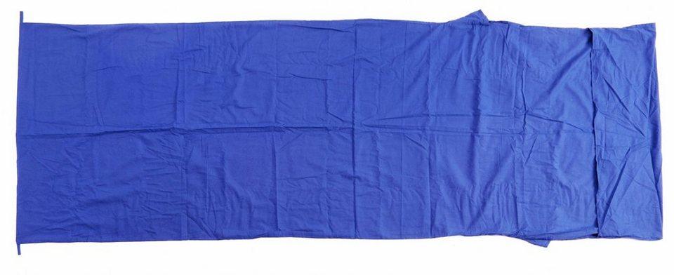 Basic Nature Schlafsack »Baumwollinlett Deckenform« in blau