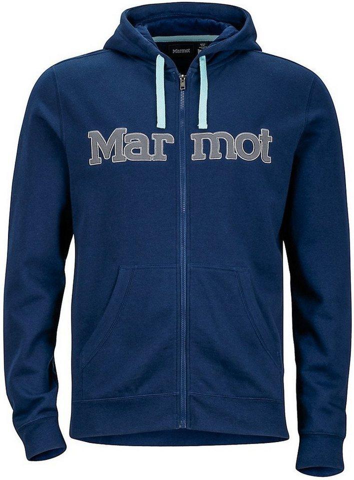 Marmot Pullover »Burnside Hoody Men« in blau