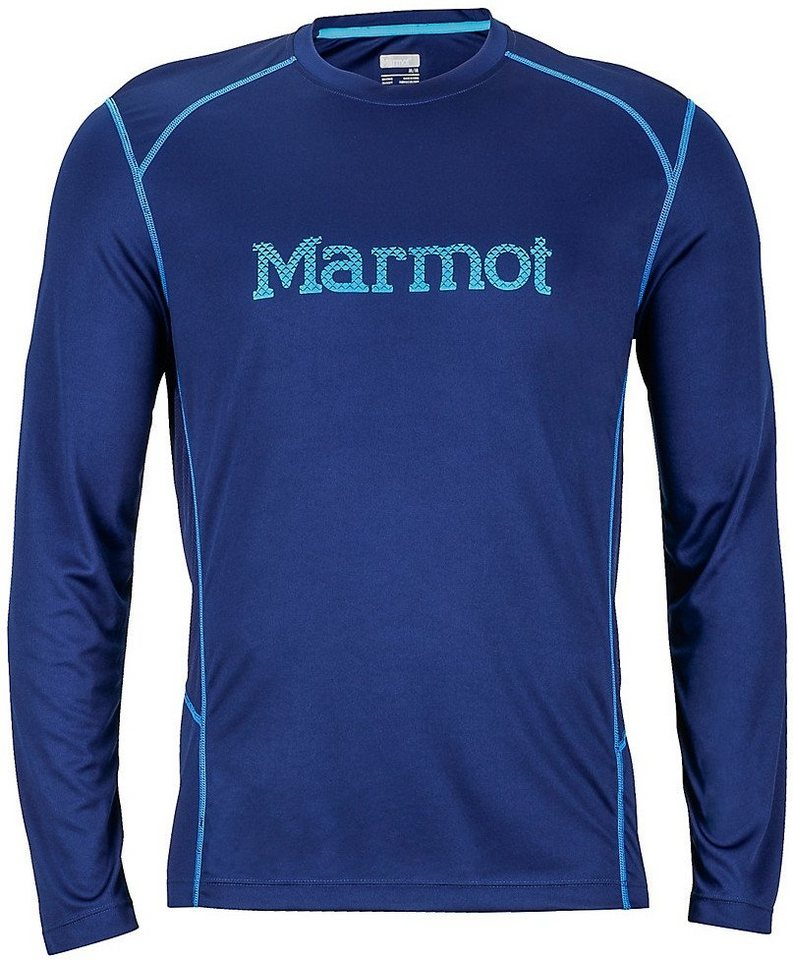 Marmot Sweatshirt »Windridge with Graphic LS Men« in blau