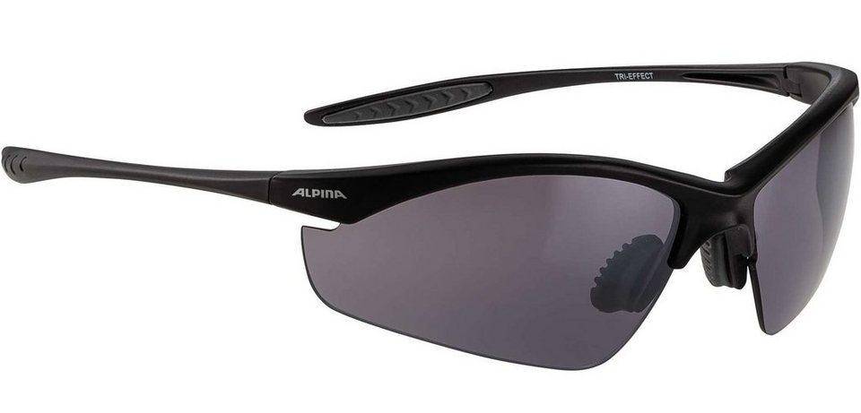 Alpina Radsportbrille »Tri-Effect« in schwarz