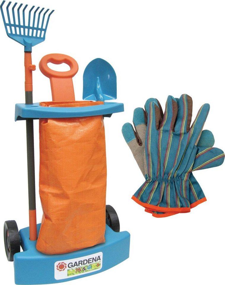 knorr toys Gartenspielset, »GARDENA Gärtnertrolley Set II« (6tlg.)