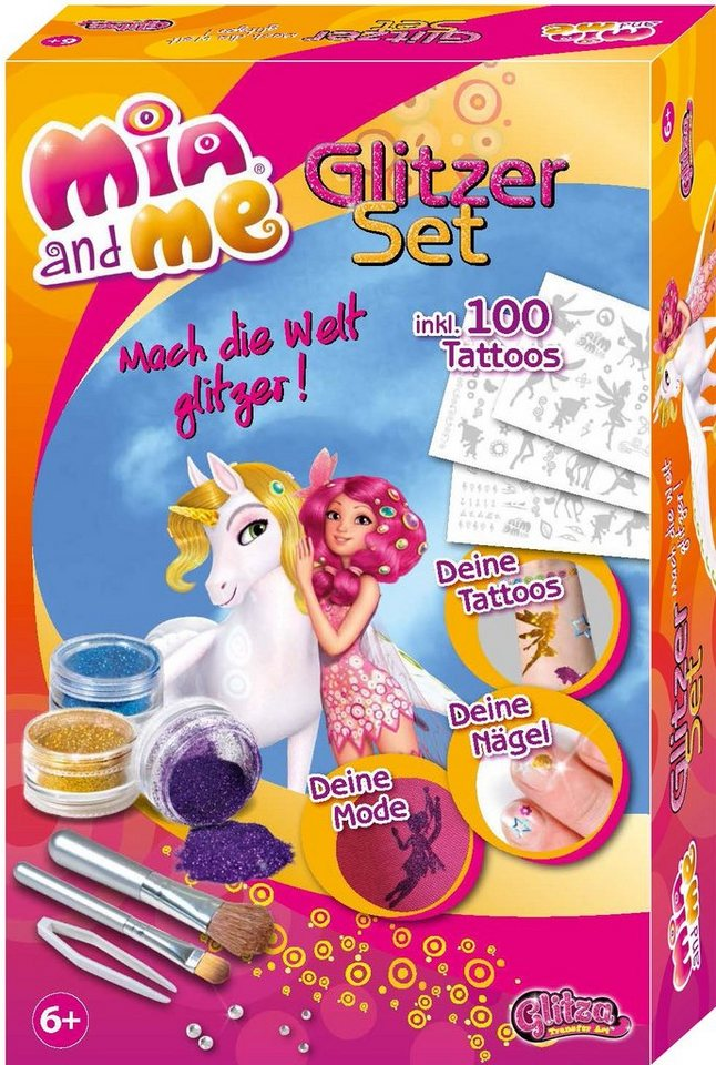 knorr toys Kreativset, »GLITZA Mia and me Tattoo Geschenkset«
