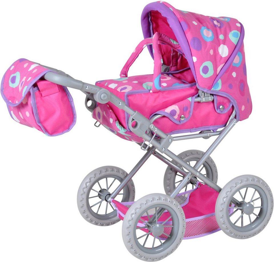 knorr toys Puppenkombiwagen, »Ruby Pink Splash«