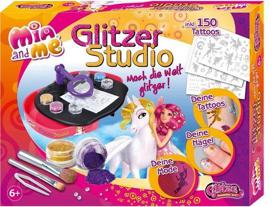 Knorrtoys® Kreativset »GLITZA Mia and me Tattoo Designstudio«, (Set), Motive lassen sich auf fast allen Objekten anbringen
