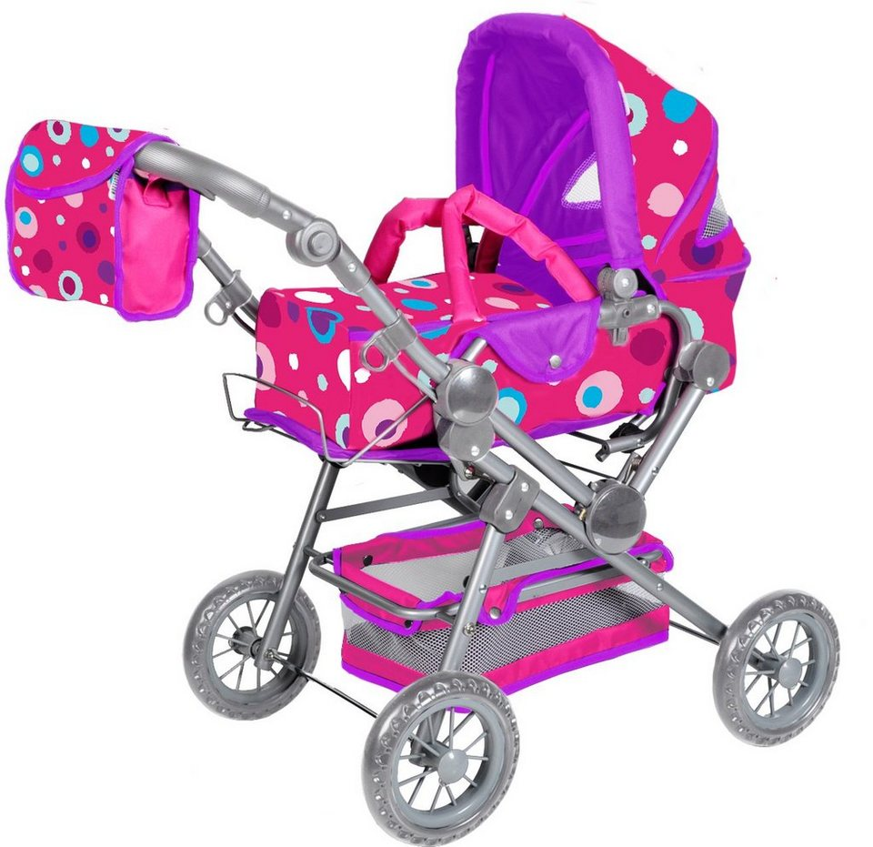 knorr toys Puppenkombiwagen, »Twingo S Pink Splash«