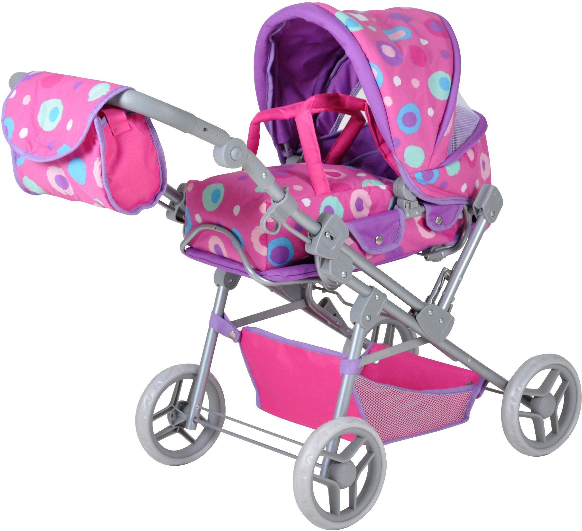 knorr toys Puppenkombiwagen, »Mioux Pink Splash«