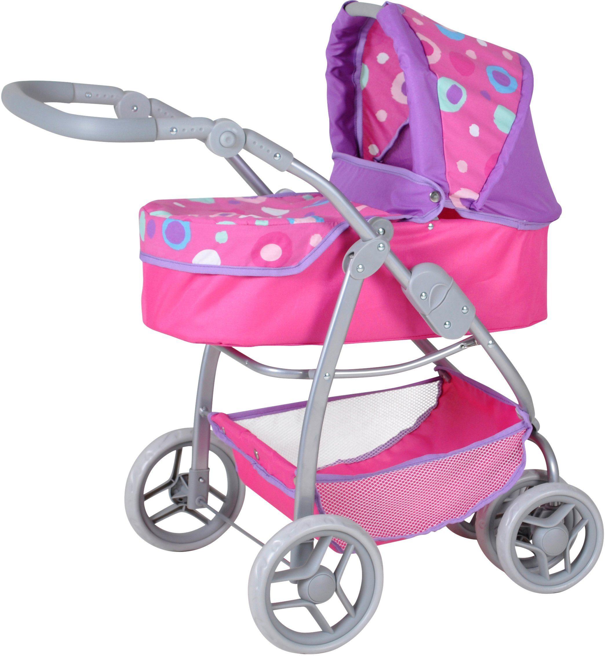 knorr toys Puppenkombiwagen, »Coco Pink Splash«