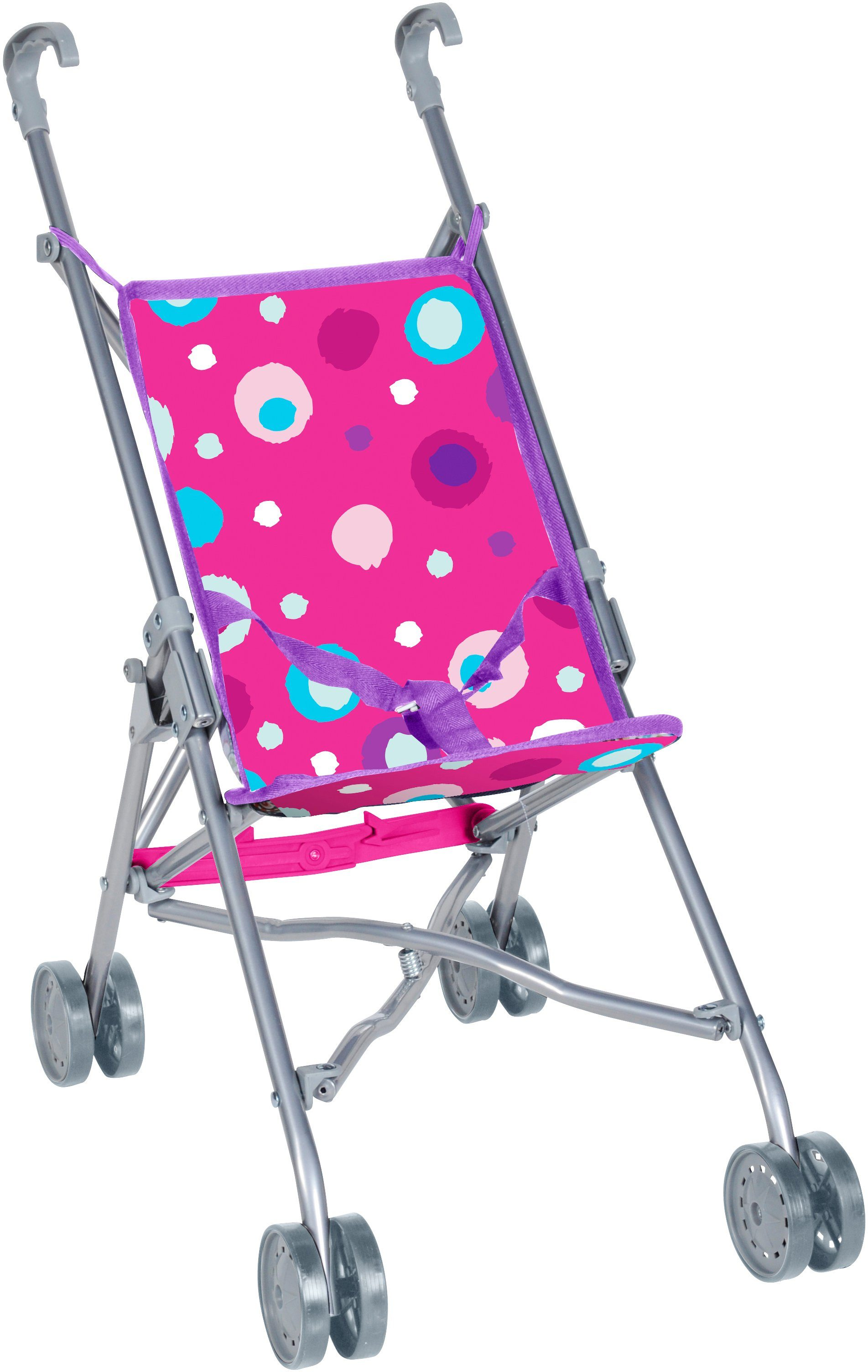knorr toys Puppenbuggy, »Sim Pink Splash«