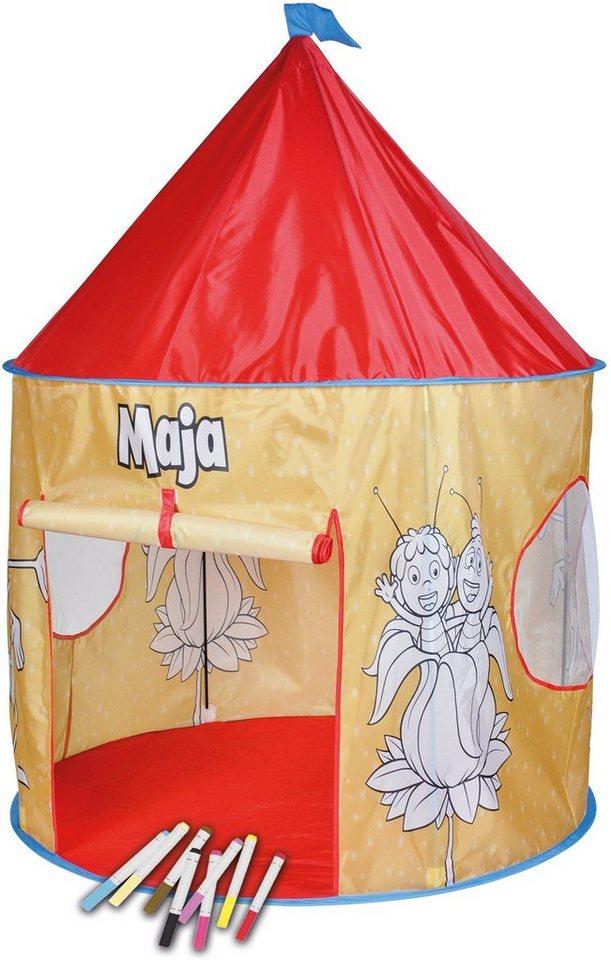 knorr toys Anmalzelt mit 10 bunten Stiften, »Biene Maja«