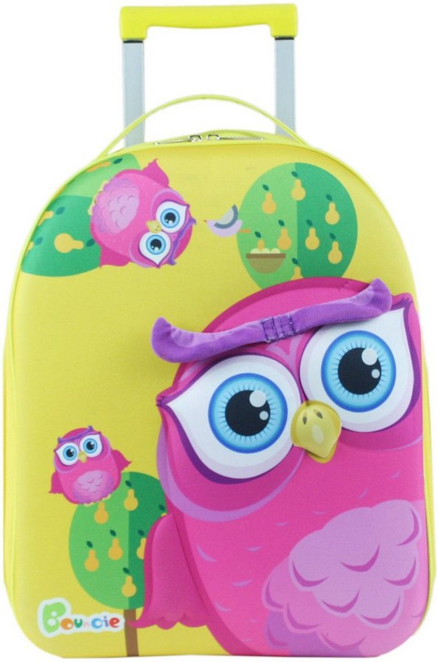 knorr toys Kinder Trolley, »Bouncie 3D Eule Pink«