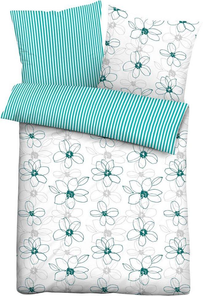 Wendebettwäsche »Franziska«, Biberna, mit floralem Muster online kaufen   OTTO