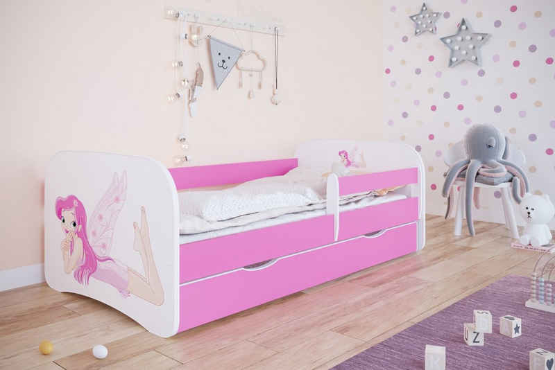 Bjird Kinderbett »Babydream« (mit Schublade und Rausfallschutz), inkl. Lattenrost