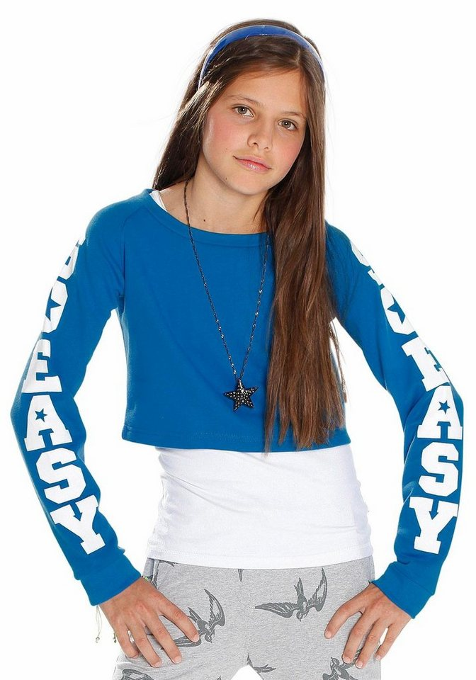 CFL Sweatshirt in kurzer Form in blau