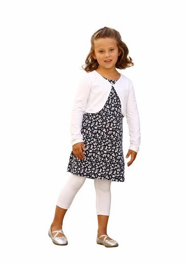 Arizona Bolero, Kleid & Leggings (Set, 3-tlg) mit Blumenallover